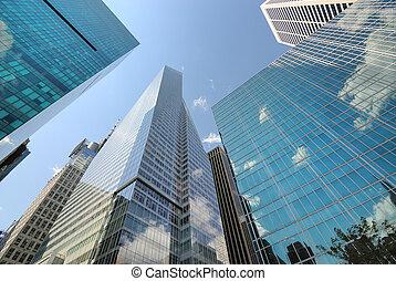 Modern New York City Skyscrapers