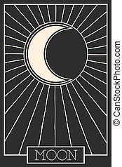occult - modern occult design, illustration in vector format