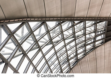 Modern of metal roof structure.