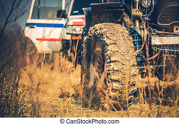 Off Road Vehicles on the Muddy Wilderness Trail