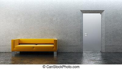 3d rendering of modern office