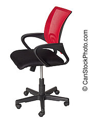 Modern office armchair isolated on white background