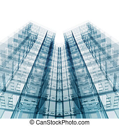 Modern office building. 3d rendering