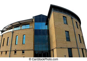 Modern office building exterior - Exterior of a new modern...