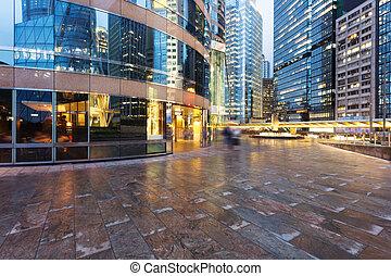 modern office building exterior of urban city - modern...