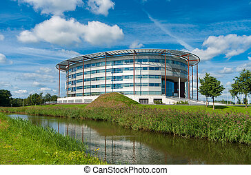 modern office building - Headquarters of Mercedes-Benz in...