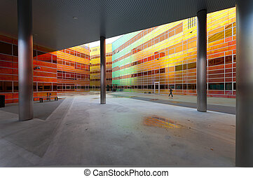 modern office building in Almere, Netherlands - colorful...