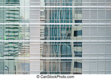 modern office building with glass pattern