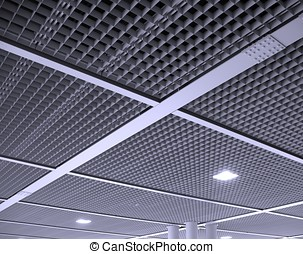 Modern Office Ceiling Pattern - A modern interior ceiling...