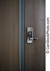 Modern office door - This photograph represent a detail of a...