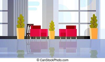 Modern Office Hall Building Waiting Room Interior
