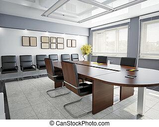office interior - modern office interior (3D rendering)