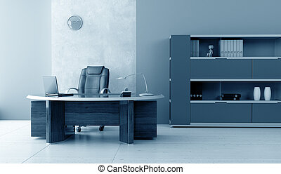 modern office interior 3d rendering