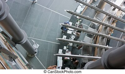 Modern office interior. High Angle View - Modern office...