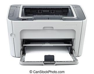 Modern Office Printer - Modern style office printer isolated...