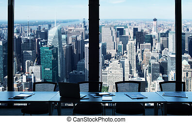 Modern office view - Office in a skyscraper with city view