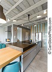Modern open floor kitchen
