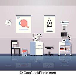 modern ophthalmologist office interior design empty no...