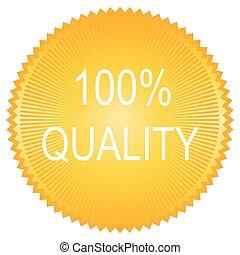 modern orange 100% quality sign