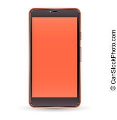 Modern orange color touchscreen