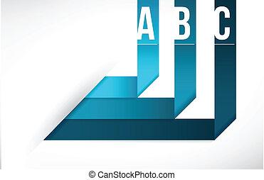 Modern origami info graphics illustration design