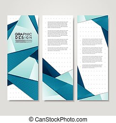 modern origami style design for banners set