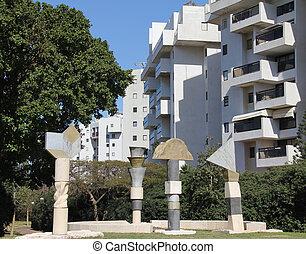 Modern outdoor art sculpture