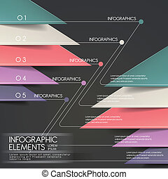 modern paper cut triangle infographic elements