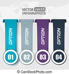 Modern paper infographics