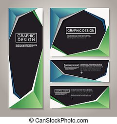 paper style design for banners set
