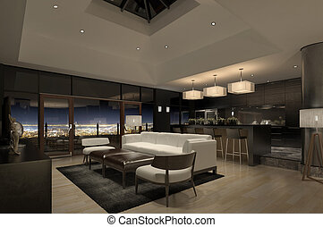 Modern Penthouse - A modern penthouse with beautiful view...