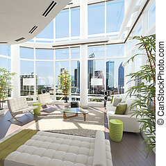 Modern Penthouse - Modern penthouse with beautiful view over...