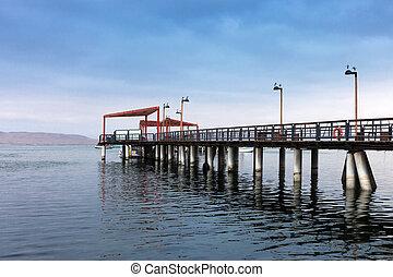 pier in ocean bay