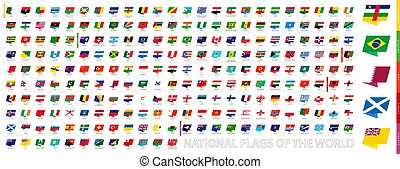 Modern Pin National Flags of the World.