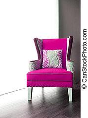 Modern pink armchair