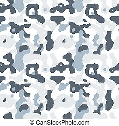 Modern pixelated camouflage seamless pattern to disguise in...