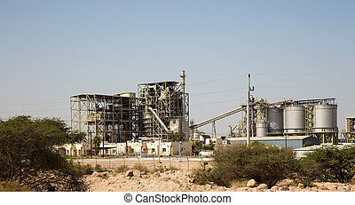 Modern plant in the desert, Jordan,  Middle East