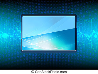 modern Plasma TV - illustration of  modern Plasma TV screen