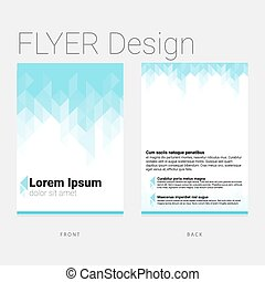 Modern polygon flyer design template for business