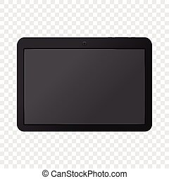 Modern portable touch pad device mockup. Realistic...