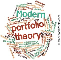 Modern portfolio theory - Abstract word cloud for Modern...