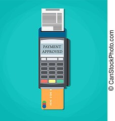 Modern POS payment terminal - Modern vector illustration of...