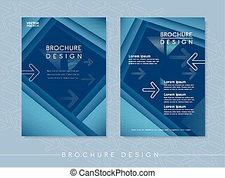 modern poster template design with streak element in blue
