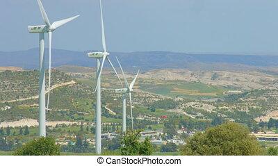 """Modern power generation infrastructure, wind turbines..."