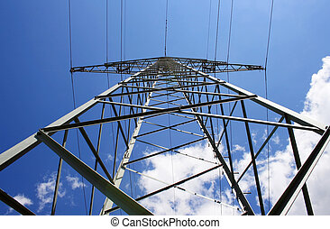 Modern Power Pole - This image shows a power pole with...
