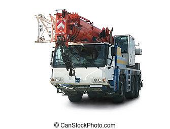 truck crane on white background