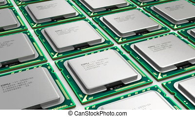 Modern processors - Computer PC technology and electronics...