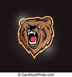 Modern professional bear logo for a sport team