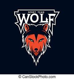 Modern professional wolf logo for a club or sport team