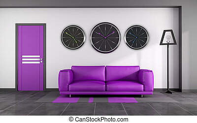 Modern purple interior